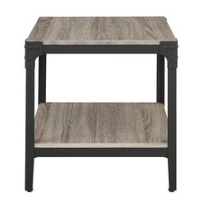 Arboleda Rustic Wood End Table (Set of 2)