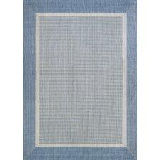 Karakum Texture Blue/Gray Indoor/Outdoor Area Rug