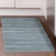 Chindi Tonal Hand-Woven Gray/Blue Area Rug