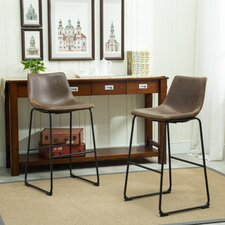 "Lotusville 30.31"" Bar Stool with Cushion (Set of 2)"