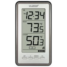 Wireless Indoor/Outdoor Thermometer with Digital Time Display