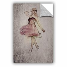 Irena Orlov Fashion Girl in Pink Dress Wall Decal