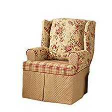 Lexington Wing Chair T-Cushion Slipcover  by Sure Fit
