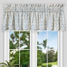 "Breckan Ikat Check Tailored 80"" Curtain Valance"