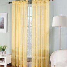 Fiesta Solid Sheer Curtain Panel