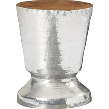 Wishart Decorative Tempered Metal Trophy Design End Table
