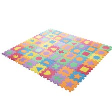 Foam Shapes Puzzle Learning 112 Piece Floor Mat