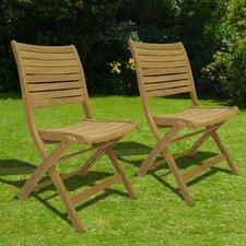 Elsmere Folding Dining Side Chair (Set of 2) (Set of 2)