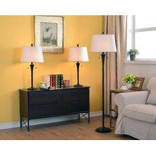 Rowena 3 Piece Table and Floor Lamp Set