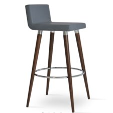 "Dallas Wood 29"" Bar Stool with Cushion"
