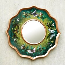 Butterfly Sky Reverse Painted Glass Wall Mirror