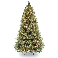 Pine Pre-lit 7' Pine Artificial Christmas Tree with 650 Clear Lights and Stand