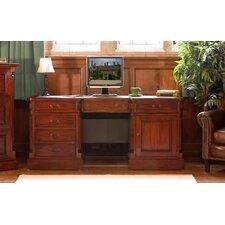 La Roque Mahogany Executive Desk with Keyboard Tray