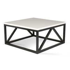 Kaya Two Toned Wood Square Coffee Table
