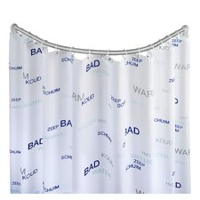 90cm Curved Fixed Shower Curtain Rail