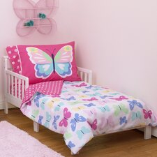 Butterflies 4 Piece Toddler Bedding Set