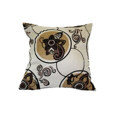 Tivoli Flock Luxurious Vintage Throw Pillow