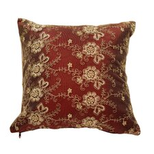 Swiss Vintage Embroidered Flowers Pillow Cover