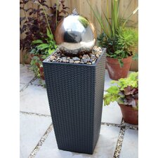 Stainless Steel Sphere Fountain with LED Light