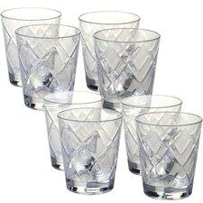 Diamond Acrylic 15 Oz. Old Fashioned Glasses (Set of 8)