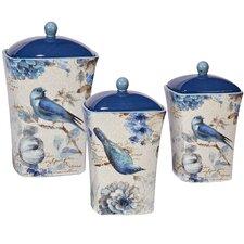Indigold 3-Piece Storage Jar Set (Set of 3)