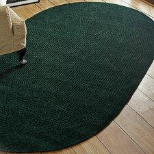 Chenille Reversible Dark Green Indoor/Outdoor Area Rug