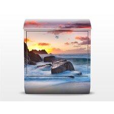 Briefkasten Am Meer in Cornwall mit Zeitungsfach