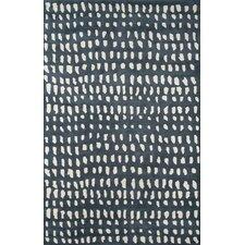 Boho Dots Hand-Tufted Black/Ivory Area Rug