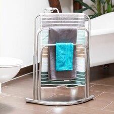 Curvy Freestanding 3 Bars Towel Rack Stand