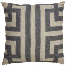 Brightwood Modern Geometric Pattern Square Linen Throw Pillow
