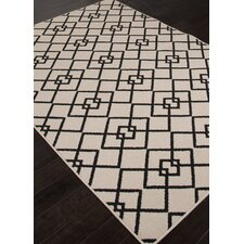Lila Ivory & Black Indoor/Outdoor Area Rug