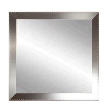 Embossed Steel Square Wall Mirror