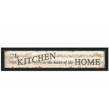 'The Kitchen is the Heart of the Home' by Debbie DeWitt Framed Textual Art