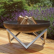 Memel Stainless and Rusting Steel Wood Burning Fire Pit