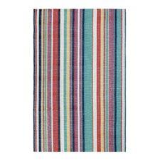 Canopy Stripe Hand-Woven Green Indoor/Outdoor Area Rug