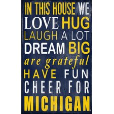 NCAA In This House Sign Wall Décor