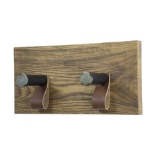 Lewis 2 Hook Wall Mounted Coat Rack