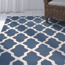 Beacon Falls Hand-Tufted Navy Area Rug