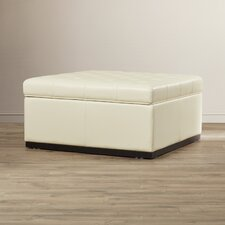 5West Noah Tufted Cocktail Leather Ottoman