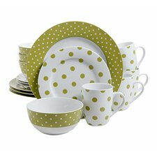 Luxe Dot 16 Piece Dinnerware Set, Service for 4