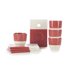 Color Lab 4 Piece Saucer and Espresso Cup Set