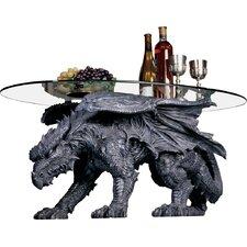 Warwickshire Dragon Coffee Table with Glass Top