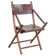 Franca Teak and Leather Folding Chair