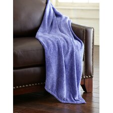 Heathered Solid Fleece Throw Blanket