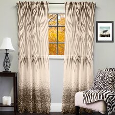 Sheer Exotic Animal Print Indoor/Outdoor Single Curtain Panel