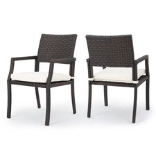 Cheyenne Outdoor Dining Arm Chairs (Set of 2)