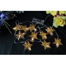 10 Light LED Star Novelty String Light