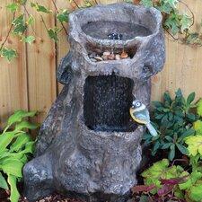 Waterfall Tree Stump Fountain with LED Light