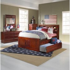 Kaitlyn Captain Twin Storage Bookcase Bed with Trundle