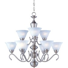 Newport 9-Light Shaded Chandelier